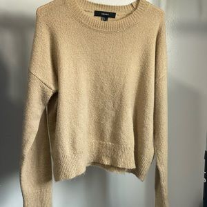 Forever 21 Crop Sand Color Sweater